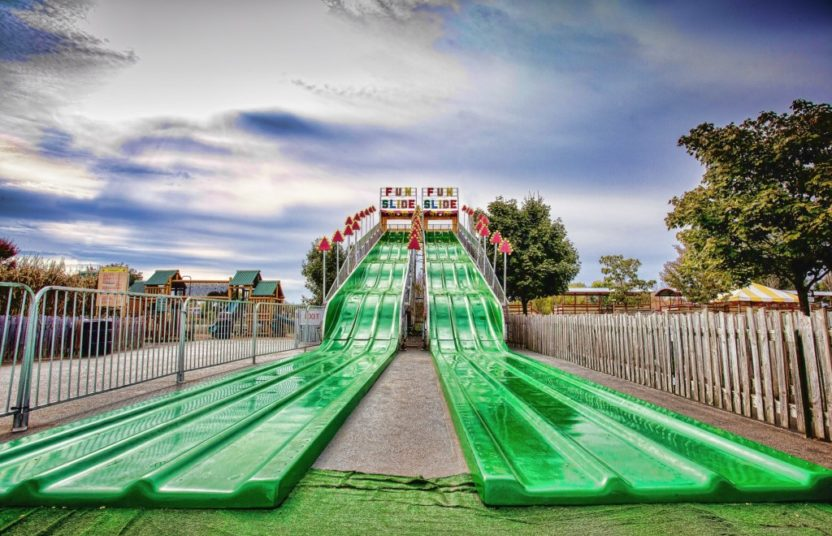 Massive 90 foot long Fun Slide at Bengtson Pumpkin Patch