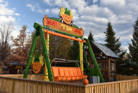 swinging children's amusement ride