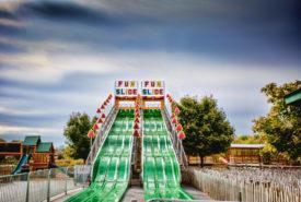 Fun Slide Amusement Ride for Kids at Bengtson Pumpkin Farm