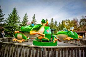jumping frog amusement ride