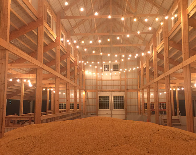 pool of corn at night
