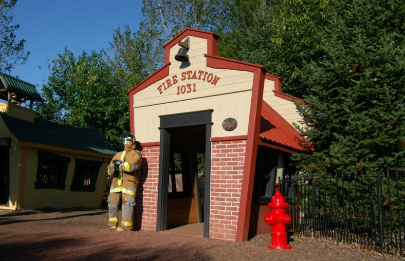 a firehouse for kids to play in