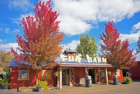 Fun barn on a sunny fall day