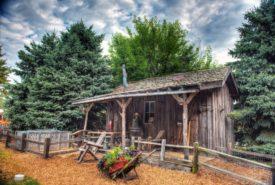 Wood Shed at Pumpkin Farm