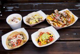 nachos, tacos, and elote