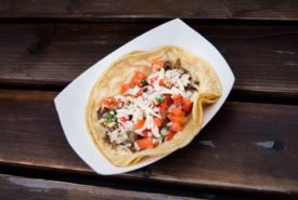 steak tacos with pico and sour cream