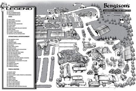 Map of Bengtson's Pumpkin Farm