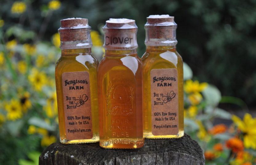 four ounce jars of honey