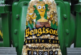 kettle corn on a tractor
