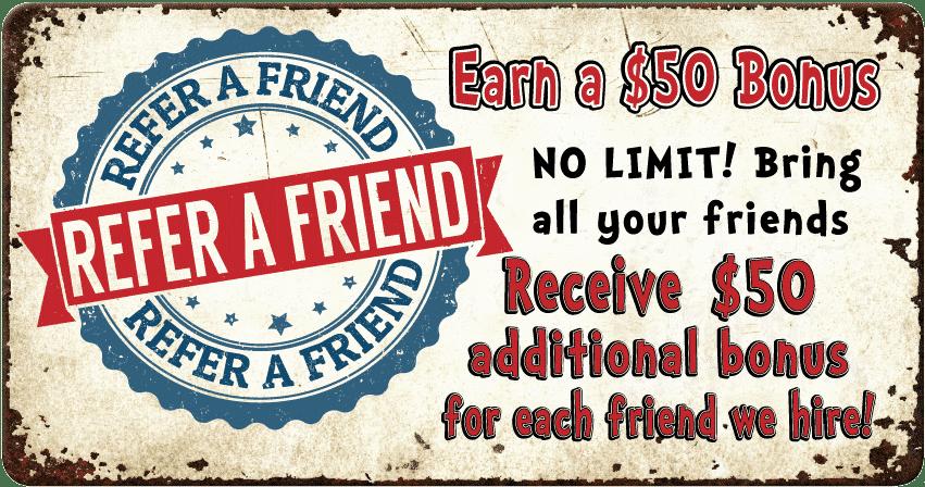 Referral Bonus Bring a Friend
